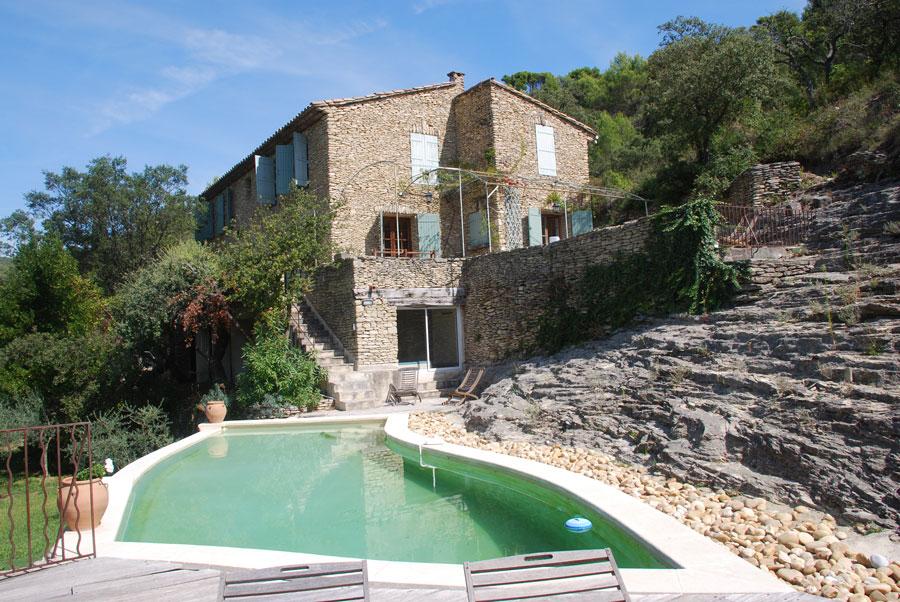 Bastide, piscine chauffée, 12 pers. Réf. 288A Saumane de V