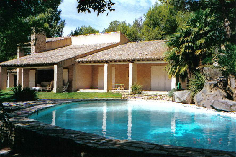 Villa, piscine, 10 pers, Réf 341A  Saumane de V